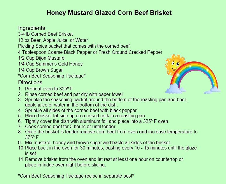 Honey Mustard Glazed Corn Beef