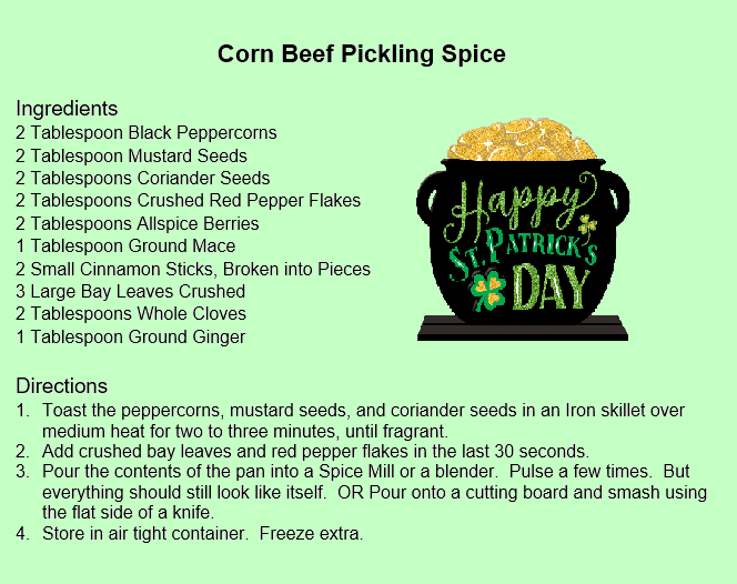 Corn Beef Pickling Spice